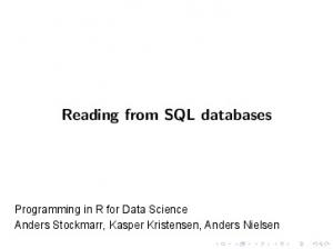 Reading from SQL databases - GitHub