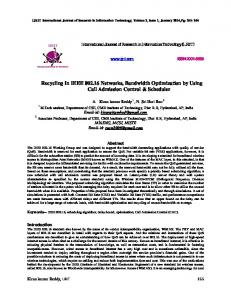 Recycling In IEEE 802.16 Networks, Bandwidth Optimization by Using ...