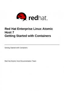 Red Hat Enterprise Linux Atomic Host 7 Getting Started with ... - GitHub