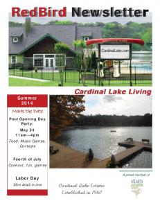 RedBird Newsletter - Cardinal Lake