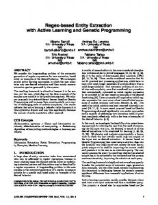 Regex-based Entity Extraction with Active Learning and ...