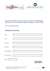 Registration form - European Medicines Agency - Europa EU