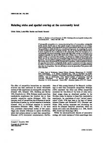 Relating niche and spatial overlap at the community level
