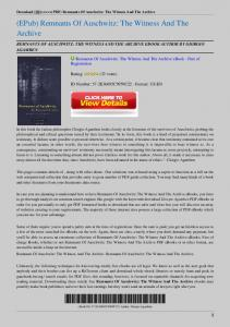 Remnants-Of-Auschwitz-The-Witness-And-The-Archive.pdf  ...