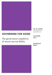 Report Brief - Governing for Good Jo Cribb