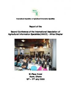 Report of the Second IAALD Africa Chapter Conference - 2009