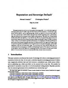 Reputation and Sovereign Default