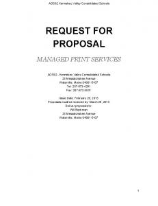 request for proposal - AOS92