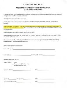 Request to Donate Leave Under the Voluntary Leave Transfer ...