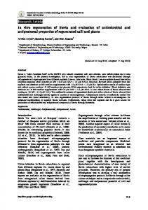 Research Article In vitro regeneration of Stevia and ...