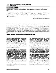 Research Note Relationship between seed yield and its ...