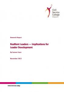 Resilient Leaders — Implications for Leader Development.pdf ...
