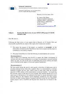 Result of the final review of your CIP/ICT-PSP project ... -