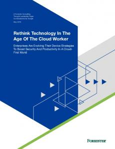 Rethink Technology In The Age Of The Cloud Worker  Services