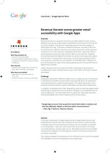 Revenue Harvest scores greater email accessibility with Google Apps