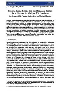 Reverse Island Effects and the Backward Search ... - Semantic Scholar