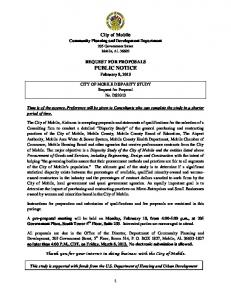 RFP DS2013 - City of Mobile Disparity Study