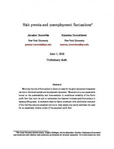Risk premia and unemployment fluctuations