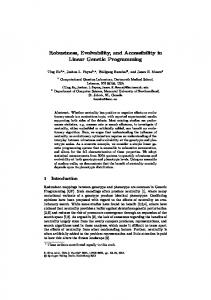 Robustness, Evolvability, and Accessibility in Linear ...