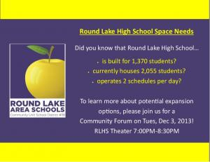 Round Lake High School Space Needs - Round Lake School District