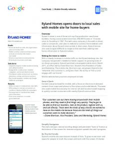 Ryland Homes opens doors to local sales with ...  Services