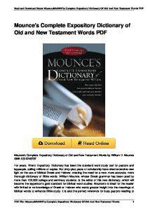 s Complete Expository Dictionary of Old and New ... - PDFKUL.COM