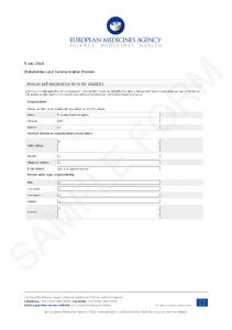 Sample eligibility form - Healthcare professionals - European ...