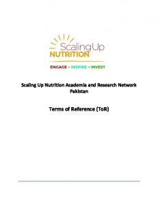 Scaling Up Nutrition Academia and Research ... -