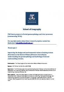 School of Geography -