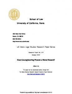 School of Law University of California, Davis - SSRN papers