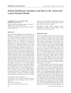 Seabird distribution, abundance and diets in the ... - Wiley Online Library