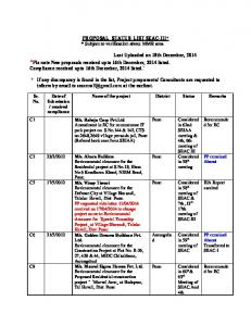 SEAC-III_Buildinglist_18_12_2014-PROPOSAL STATUS LIST ...
