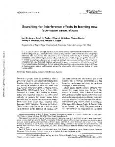Searching for interference effects in learning new