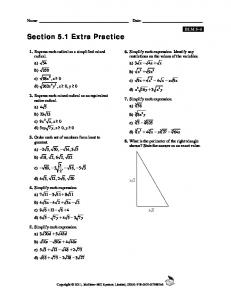 Section 5.1 Extra Practice