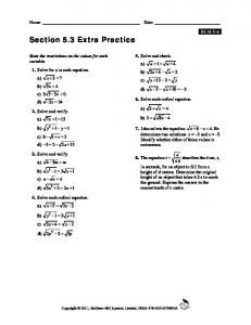 Section 5.3 Extra Practice