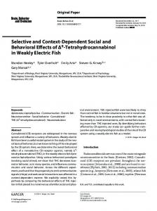 Selective and Context-Dependent Social and ...