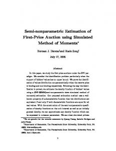 Semi-nonparametric Estimation of First-Price Auction ...