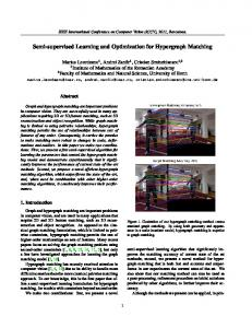 Semi-supervised Learning and Optimization for Hypergraph Matching