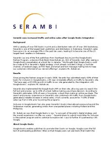 Serambi sees increased traffic and on...  Books