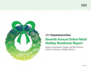 Seventh Annual Online Retail Holiday Readiness ...  Services