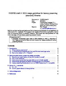 SG14 design guidelines for latency preserving -