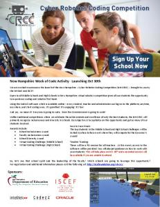 Sign Up Your School Now - NH Department of Education