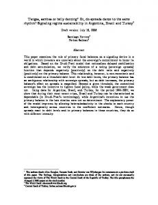 Signaling regime sustainability in Argentina, Brazil a