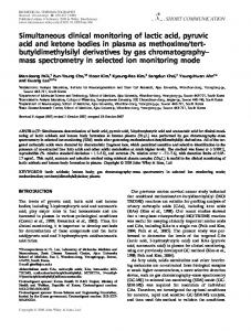 Simultaneous clinical monitoring of lactic acid, pyruvic acid ... - GitHub