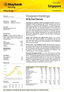 Singapore Yongnam Holdings