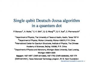 Single qubit Deutsch-Jozsa algorithm in a quantum dot