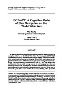 SNIF-ACT: A Cognitive Model of User Navigation ... - Semantic Scholar