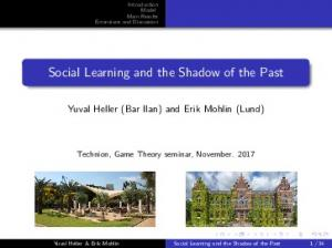Social Learning and the Shadow of the Past