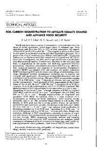 soil carbon sequestration to mitigate climate change ... - naldc - USDA