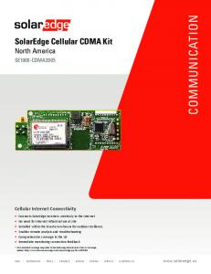 Solaredge Cellular CDMA Internet Connectivity Kit SE1000 ...